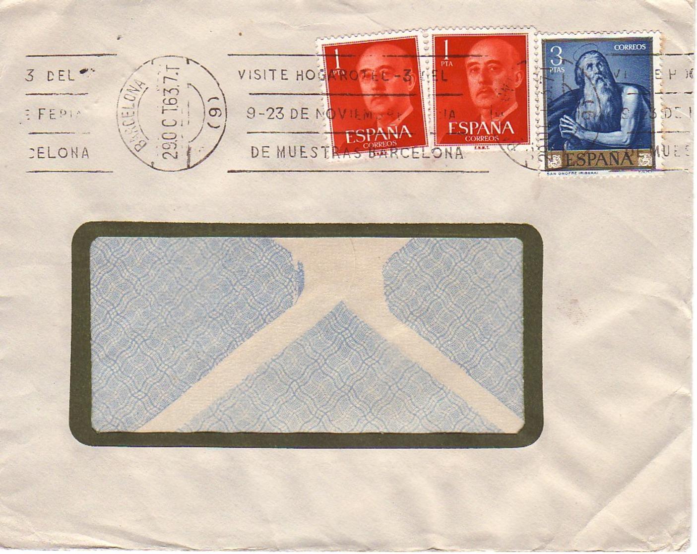 ESPAGNE : 1963 - Lettre Commerciale Pour La France - 1931-Aujourd'hui: II. République - ....Juan Carlos I