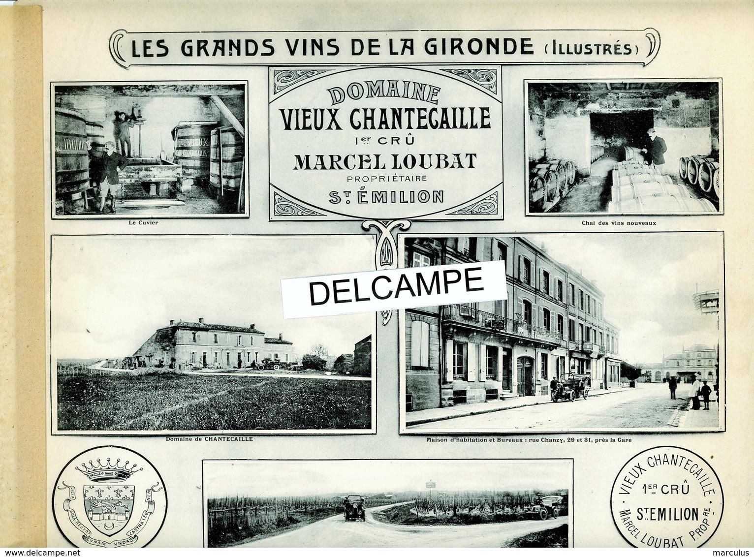 Rare Album : LES GRANDS VINS DE LA GIRONDE, ILLUSTRÉS. Édition Originale, 1909 - Libri, Riviste, Fumetti