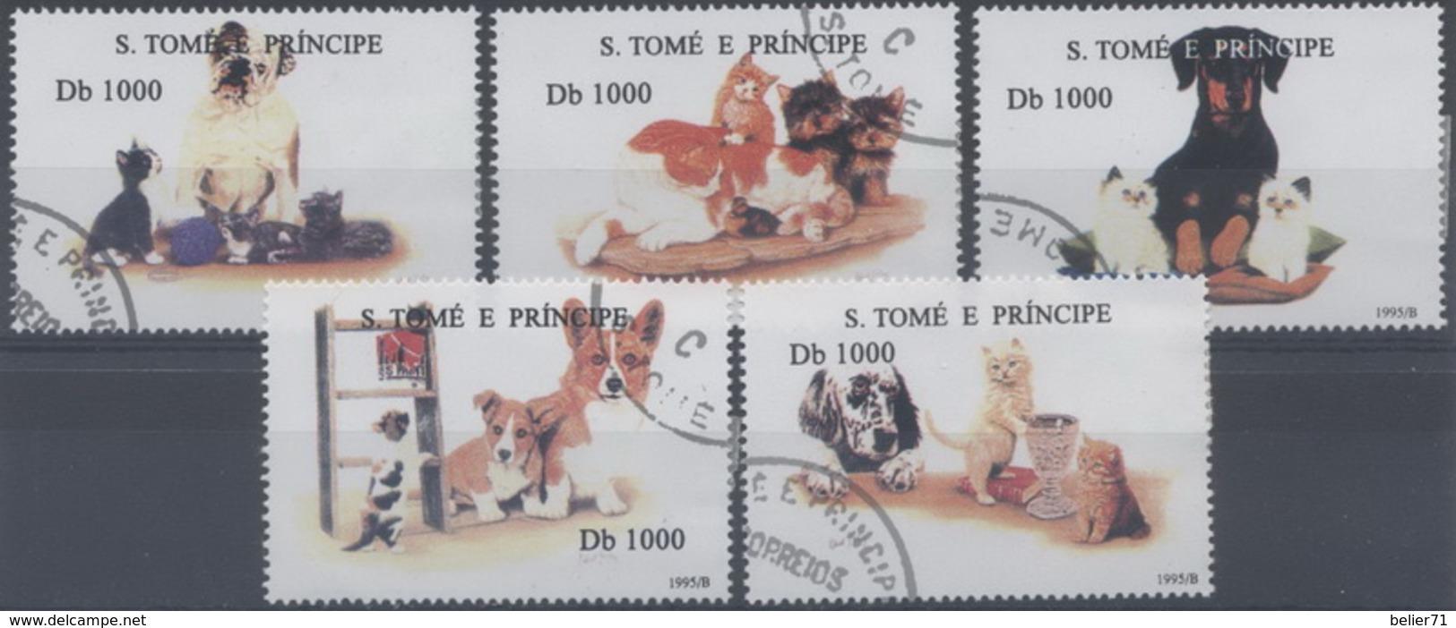 Saint Tome Et Prince : N° 1264BF à 1264BK Oblitéré Année 1995 - Sao Tome Et Principe
