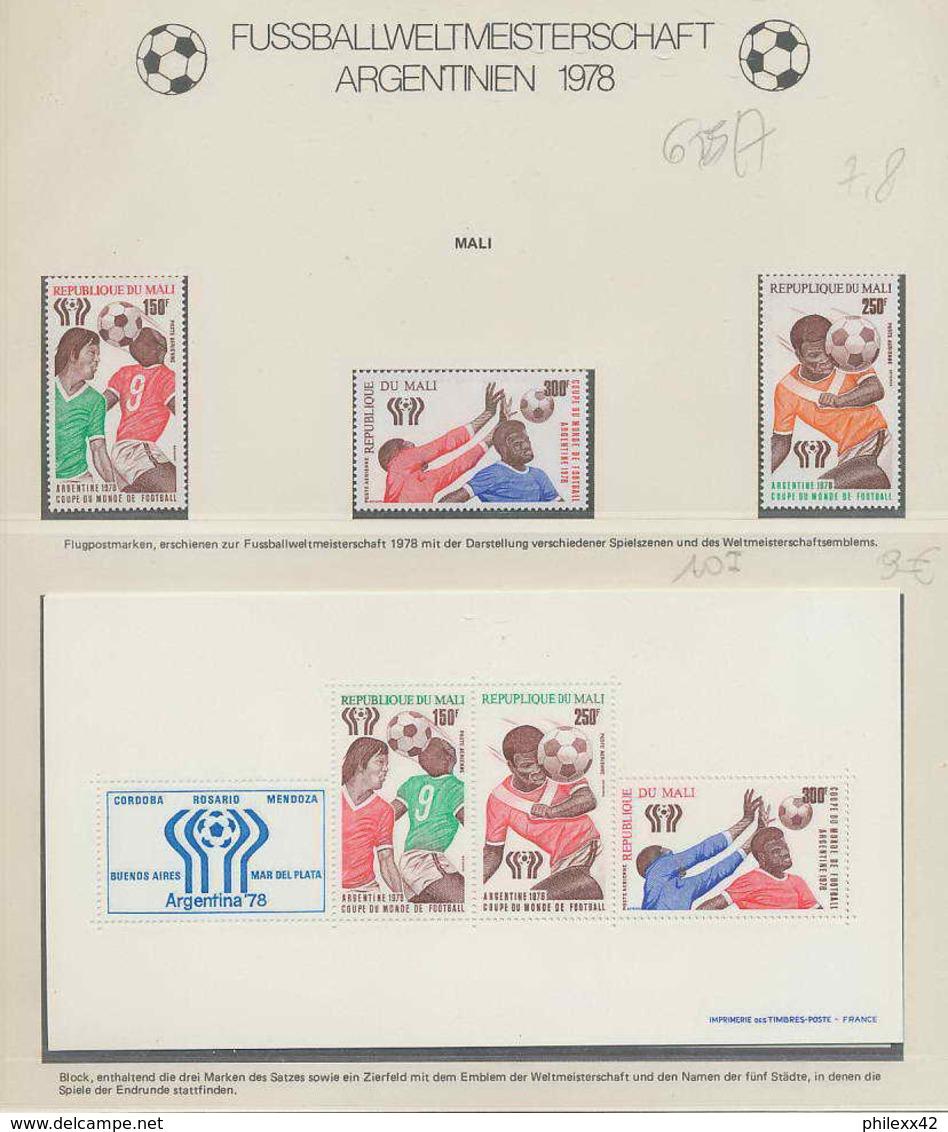 343 Football (Soccer) Argentina 78 - Neuf ** MNH - Mali N° 625/7 + Bloc 10 - 1978 – Argentine