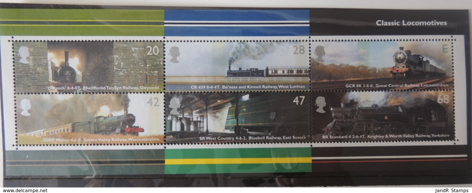 GREAT BRITAIN 2004 CLASSIC LOCOMOTIVES MINIATURE SHEET MS2423 UNMOUNTED MINT RAILWAYS TRAINS - 1952-.... (Elizabeth II)