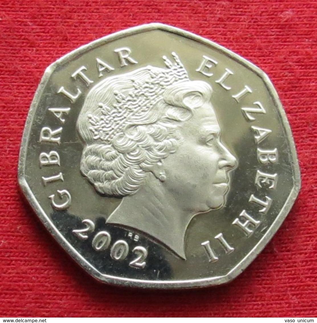 Gibraltar 50 Pence 2002 Dolphins - Gibraltar