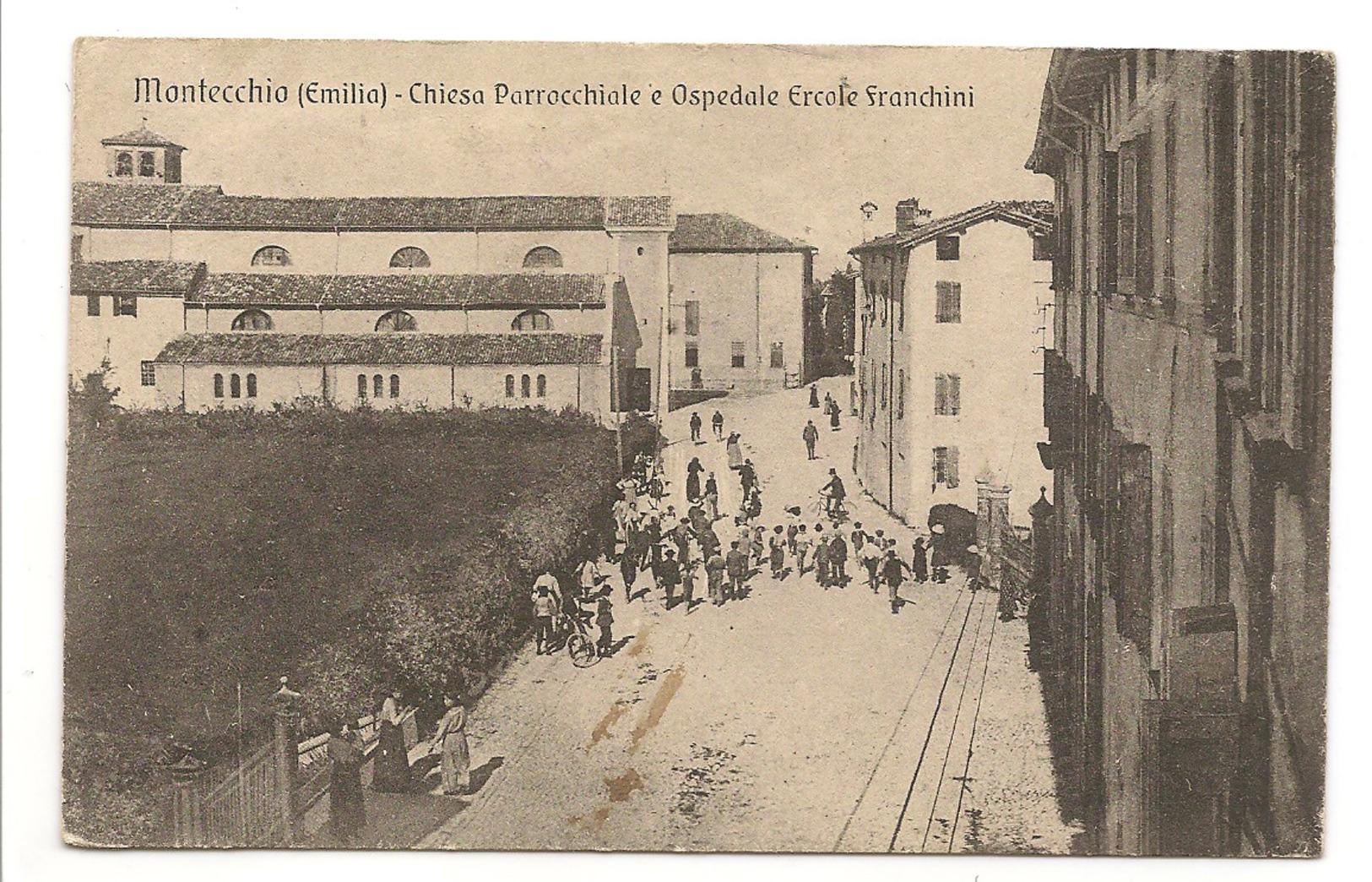 MONTECCHIO (EMILIA) - CHIESA PARROCCHIALE E OSPEDALE ERCOLE FRANCHINI - Terni