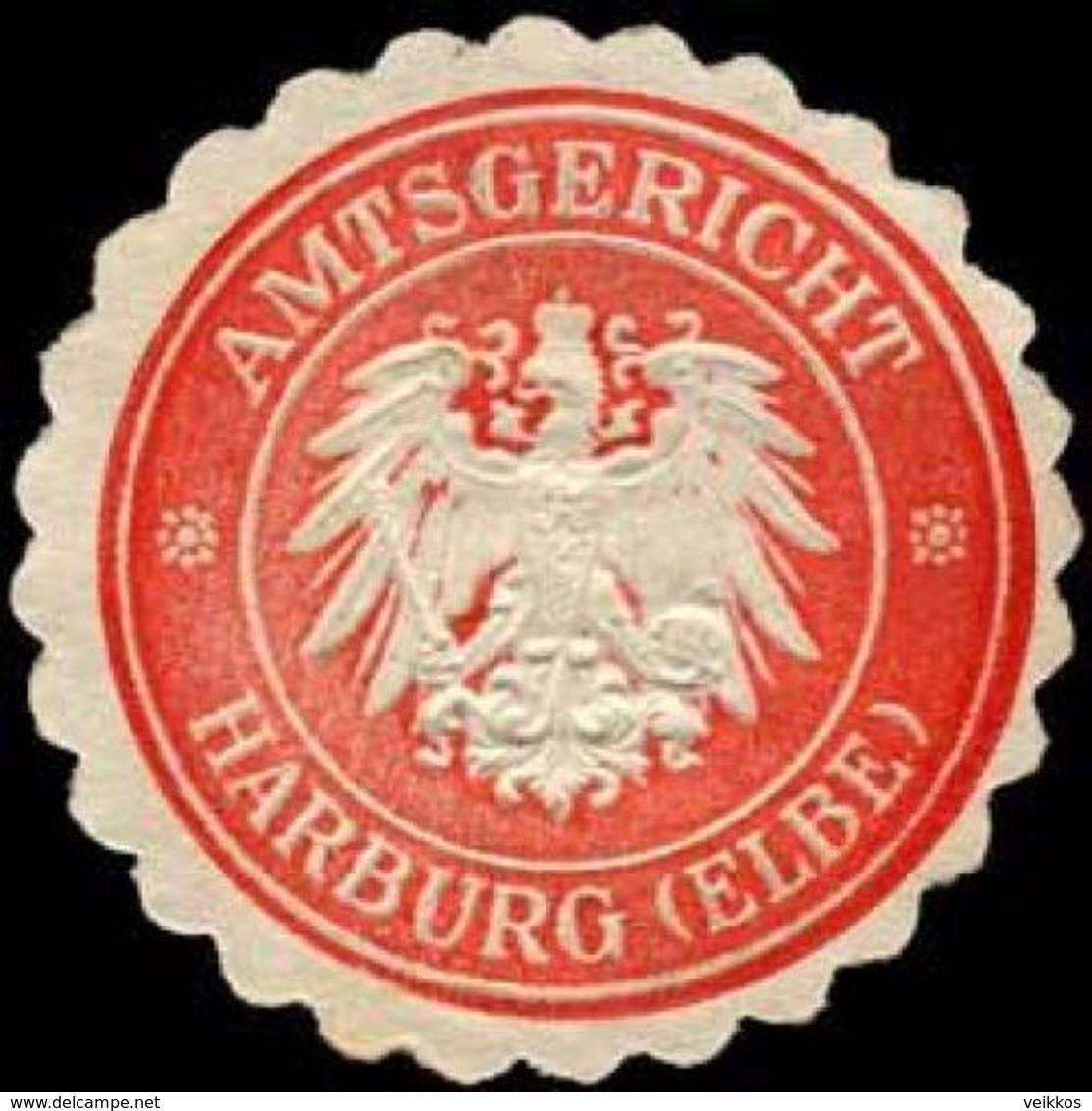 Harburg / Elbe: Amtsgericht - Harburg (Elbe) Siegelmarke - Cinderellas