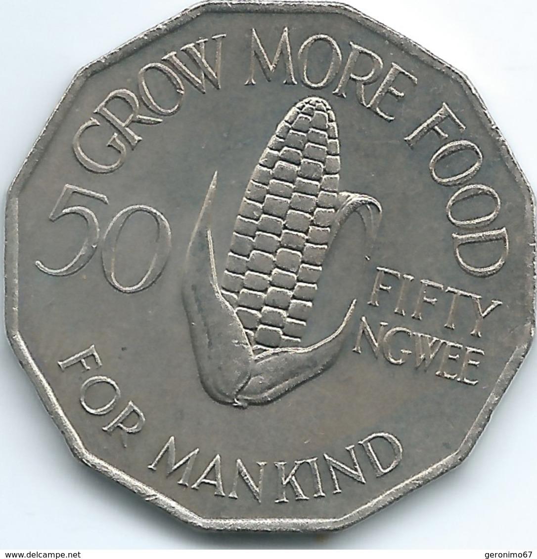 Zambia - 1972 - 50 Ngwee - FAO - KM15 - Zaire (1971-97)