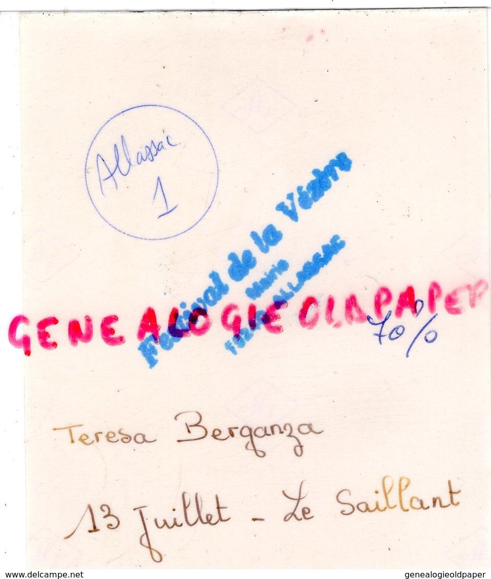 19- LE SAILLANT- ALLASSAC- TERESA BERGANZA- FESTIVAL DE LA VEZERE- OPERA--RARE PHOTO ORIGINALE - Célébrités