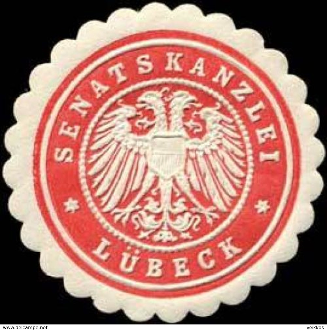 Lübeck: Senatskanzlei Lübeck Siegelmarke - Cinderellas