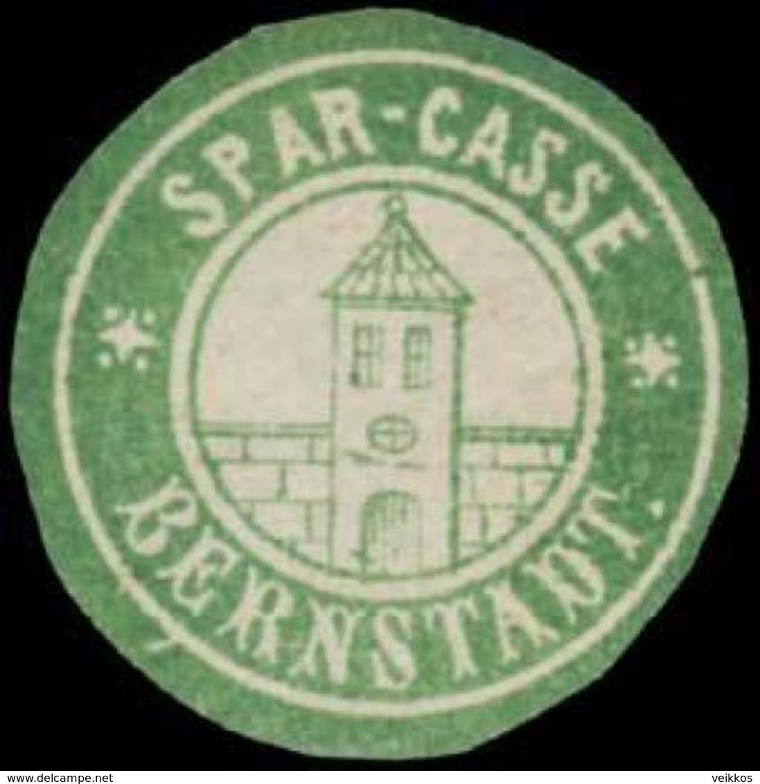 Bernstadt: Spar-Casse Bernstadt Siegelmarke - Cinderellas