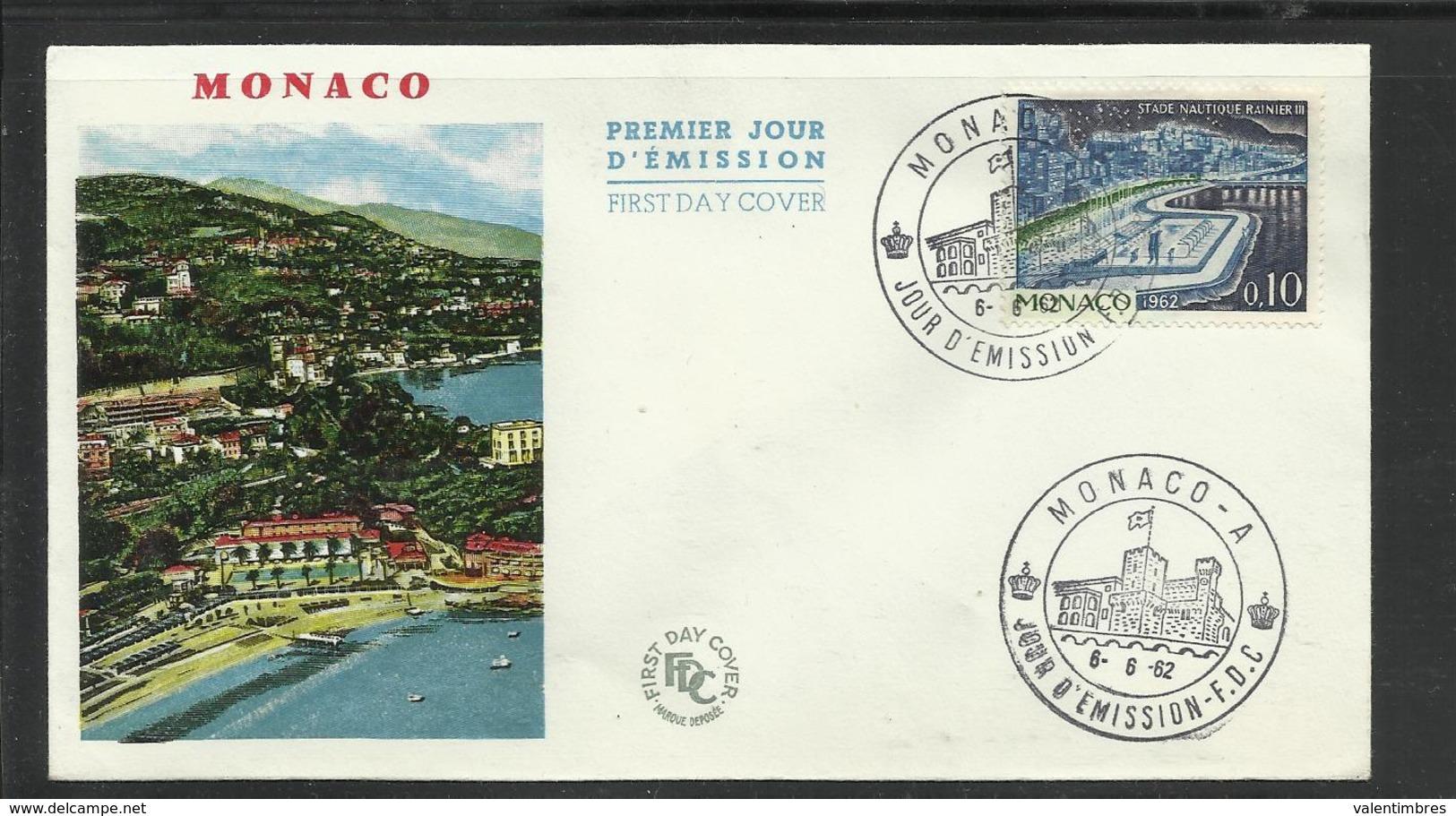 Monaco  FDC  Stade Nautique Rainier III  6.6.1962 - Postzegels