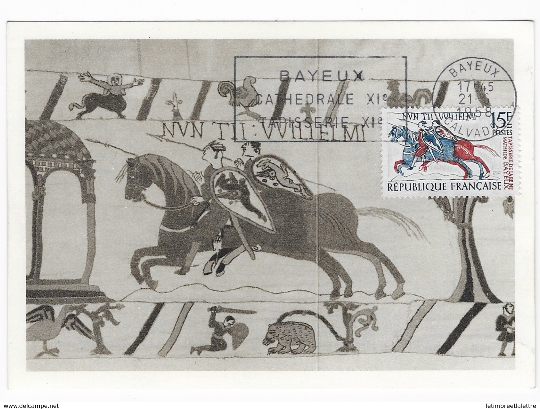 Carte Maximum 1958 Bayeux - 1950-59