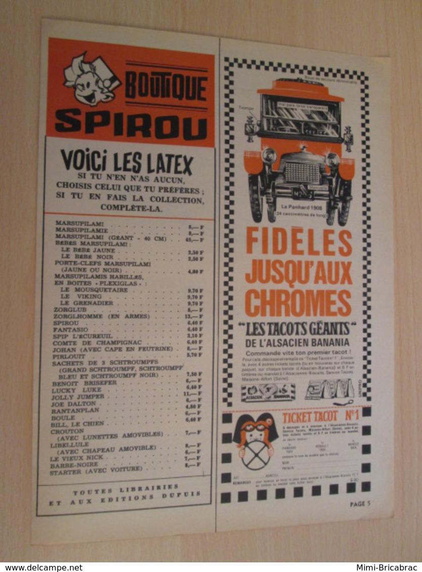 SPI19 SPIROU ANNEES 50/60 1 PAGE : PUBLICITE VOITURES TACOTS GEANTS L'ALSACIENNE - Cars