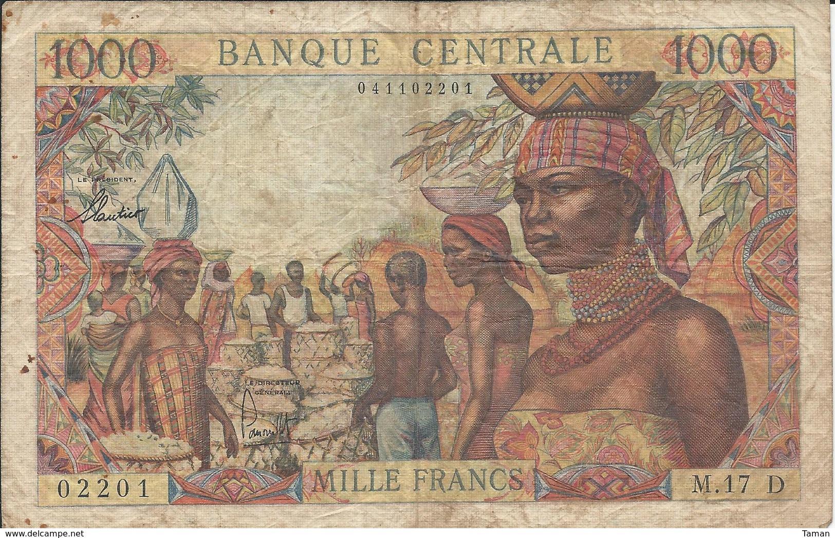 GABON  --  Etats De L'Afrique équatoriale  --  1 000 Francs  Nd(1963) - Gabon