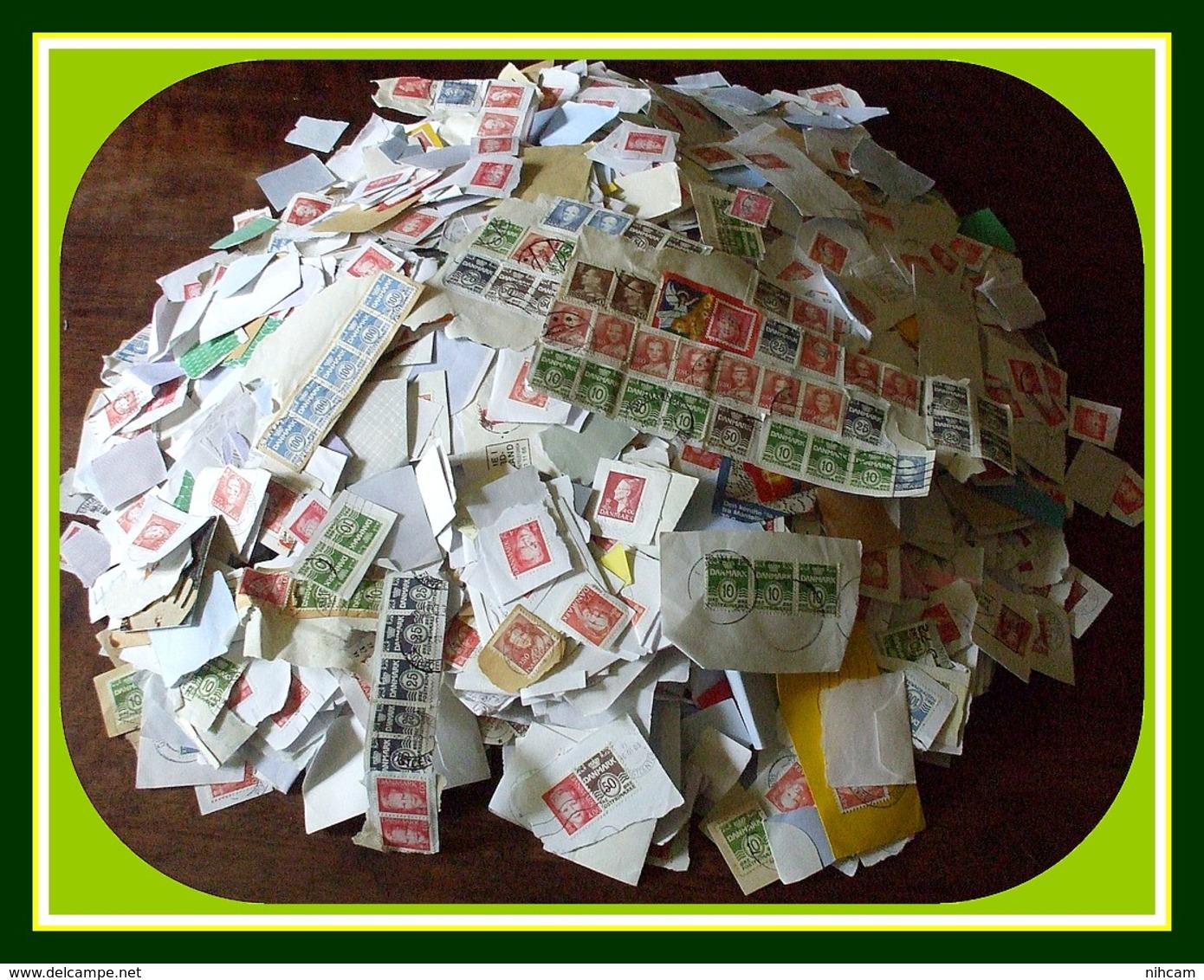 0,930 Kilo Timbres Danemark Danmark / Frag Petits Formats - Vrac (min 1000 Timbres)