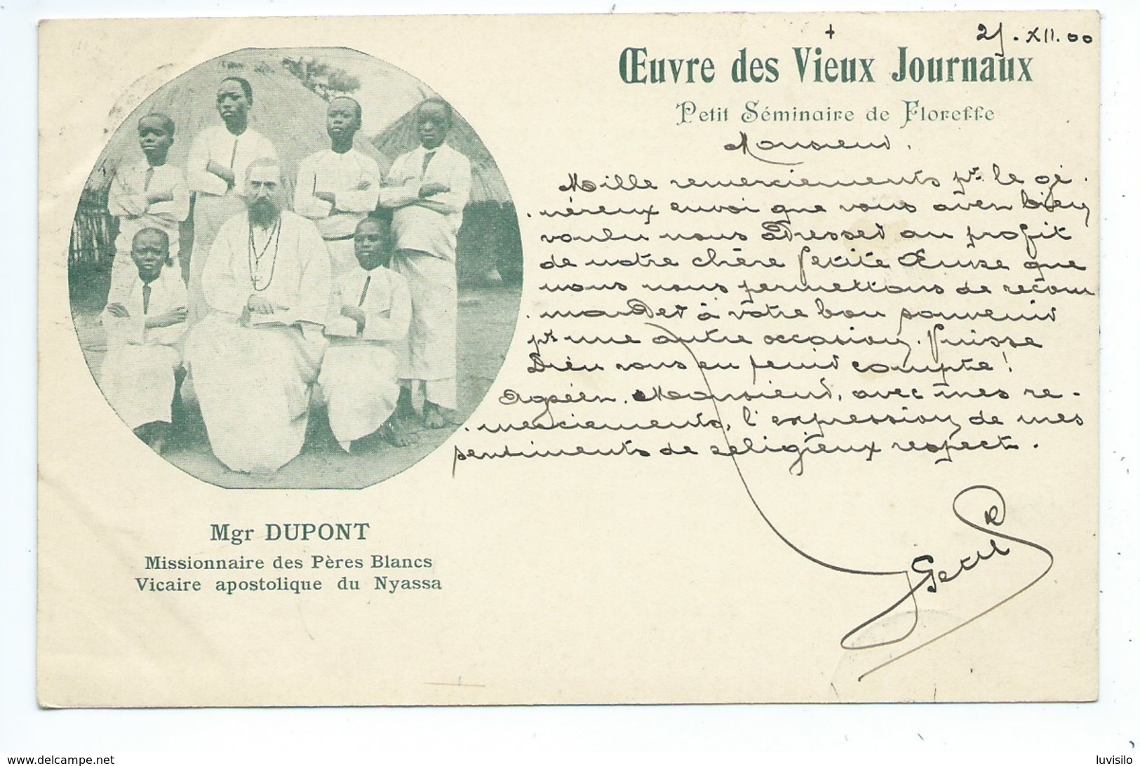 Petit Séminaire De Floreffe  Mgr Dupont Missionnaire Nyassa - Malawi