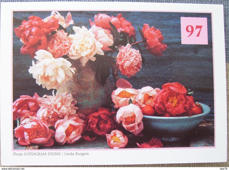 Petit Calendrier De Poche 1997 Pivoine Fleur Vase - Petit Format : 1991-00