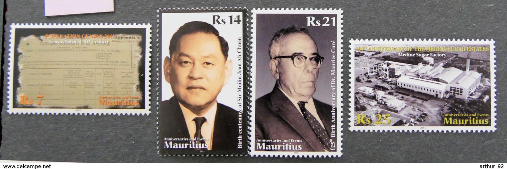 ILE MAURICE - MAURITIUS - 2011 - YT 1130 à 1133 ** - ANNIVERSAIRES ET EVENEMENTS - Mauritius (1968-...)