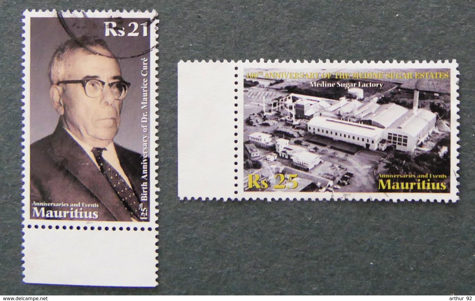 ILE MAURICE - MAURITIUS - 2011 - YT 1132 à 1133  - ANNIVERSAIRES ET EVENEMENTS - Mauritius (1968-...)