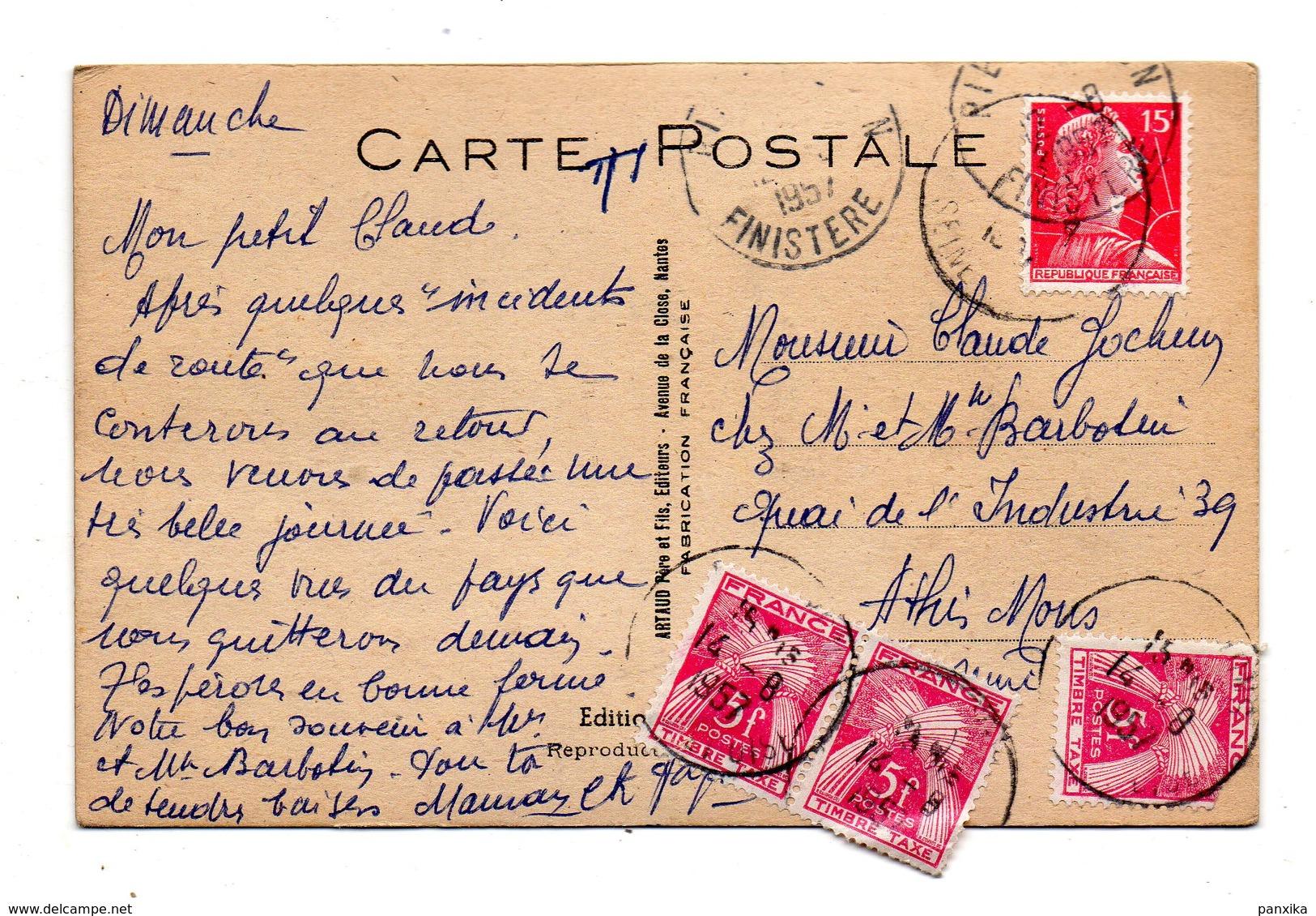 Riec-sur-Belon. Ca Mijote ! Cherchez.......  Timbres Taxes. 1957. - France