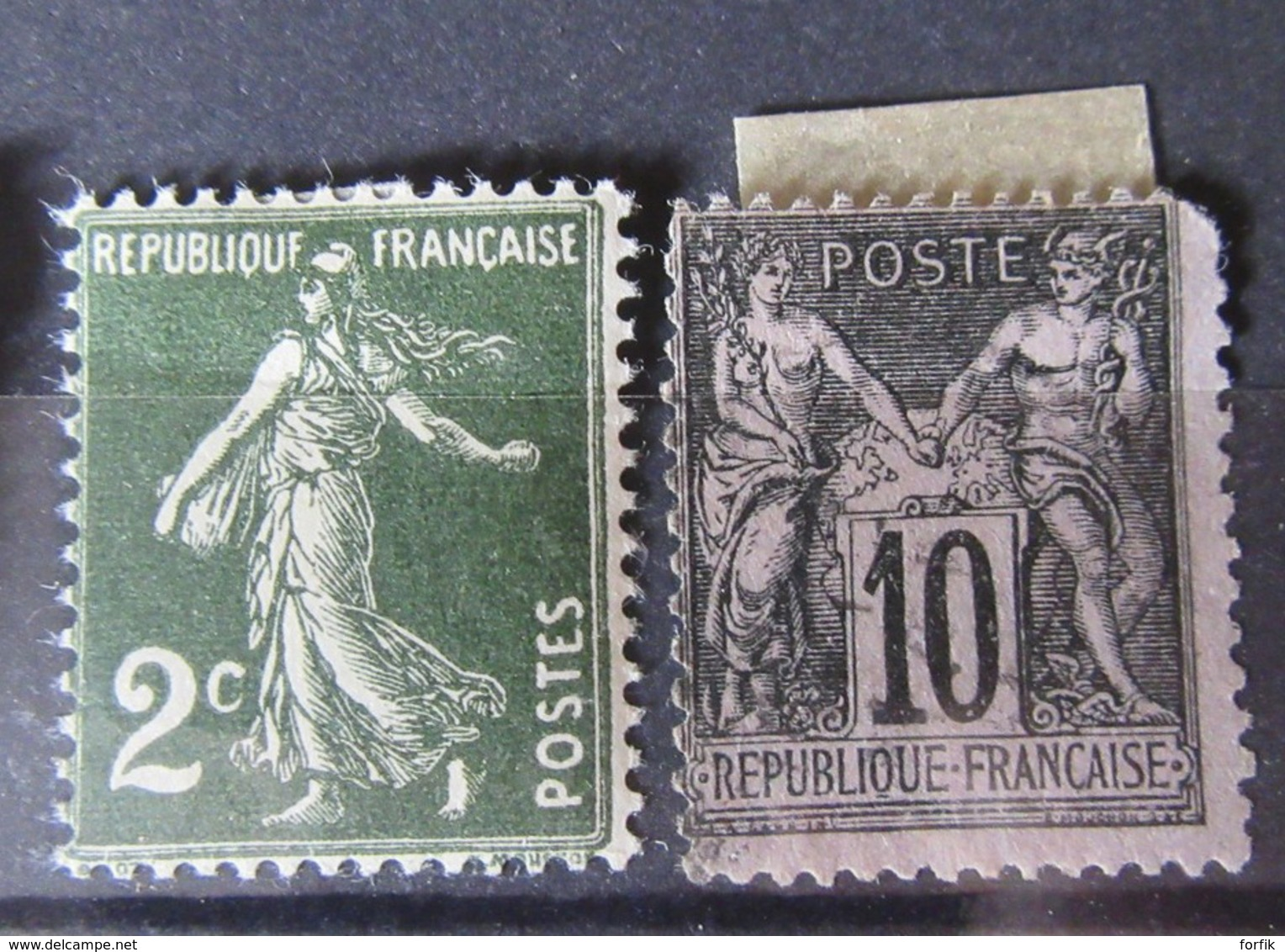 France - Lot De 48 Timbres Anciens Divers Et Variés Dont Blanc, Mouchon, Semeuse, Etc - Neufs Sur Charnière Et Oblitérés - Collections