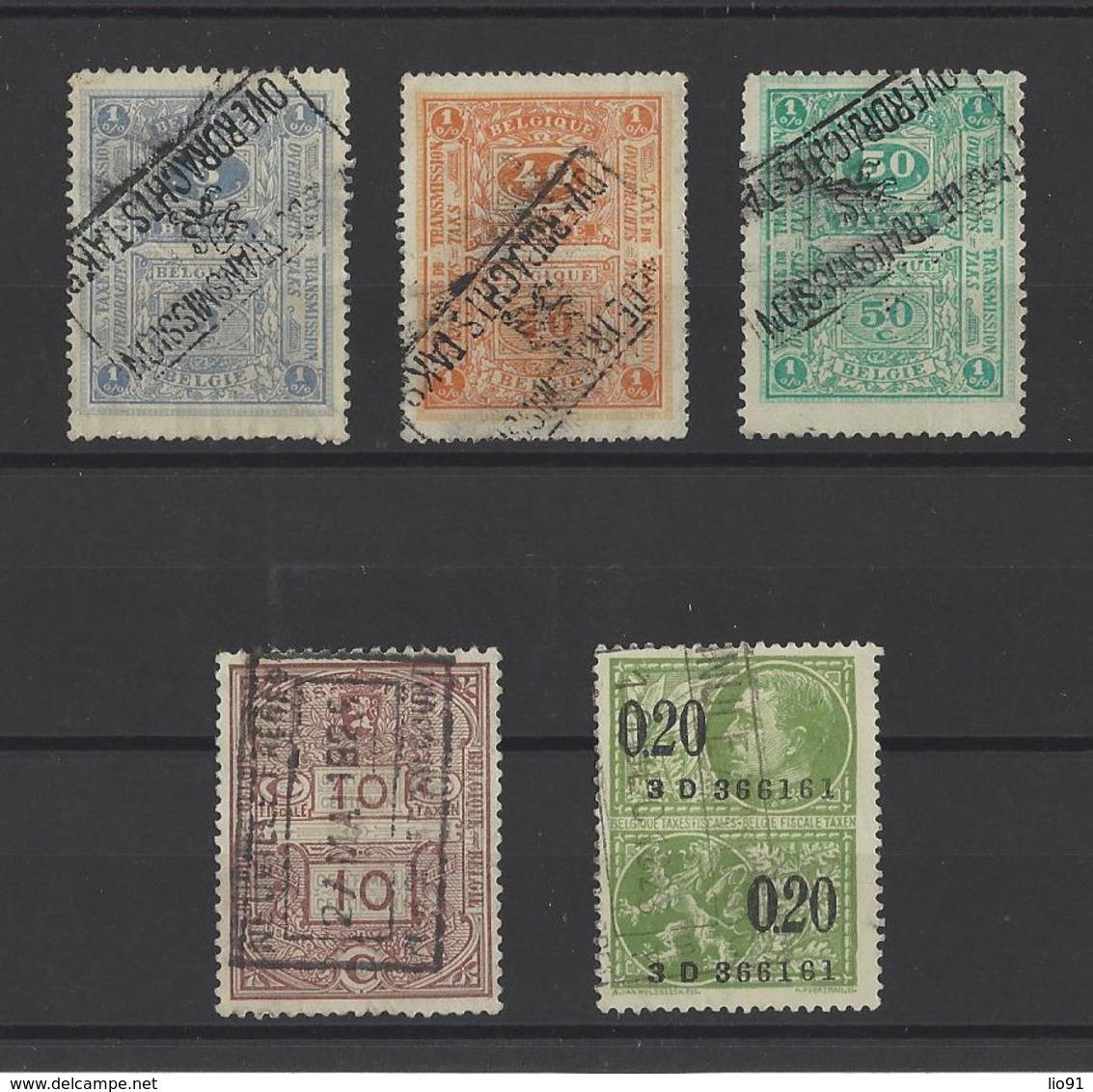 BELGIQUE  YT Timbres Fiscaux   Obl - Revenue Stamps