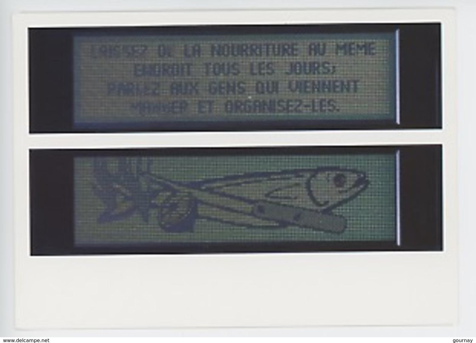 """Jenny Holzer Née 1950 """"Survival Séries"""" 1983/1985 électro-magnétique Boite Acier (art Moderne Pompidou Paris) Poisson - Arts"""