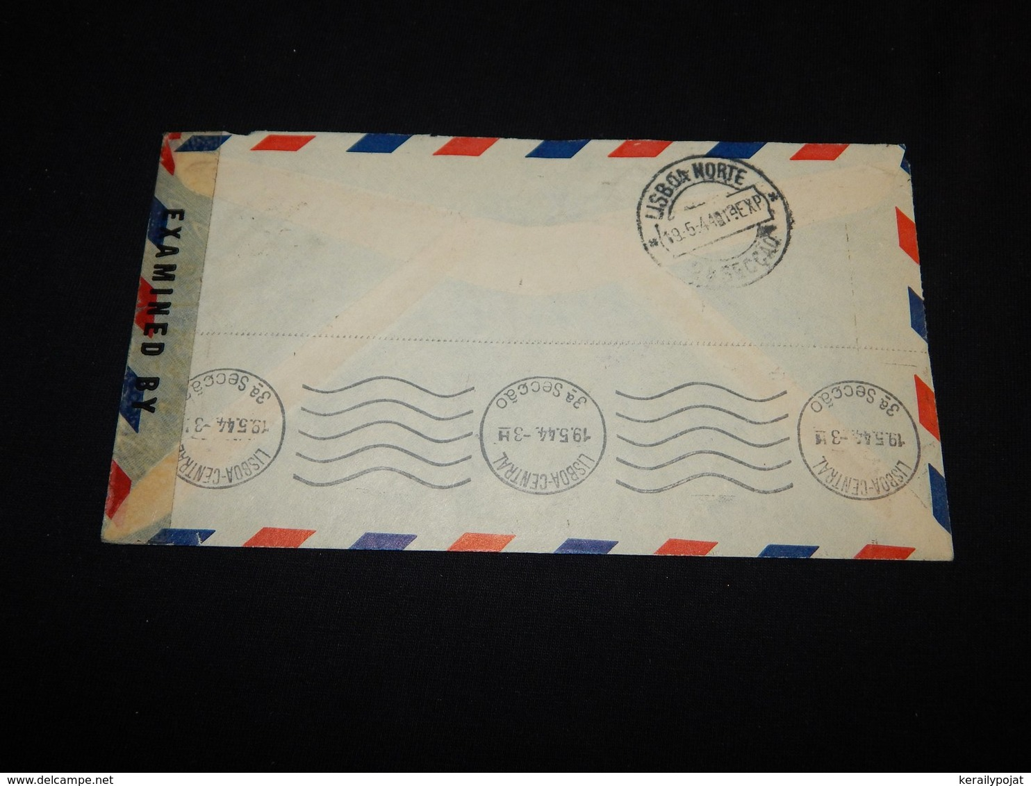 USA 1944 Chicago Censored Air Mail Cover To Portugal__(L-24922) - 2c. 1941-1960 Lettres
