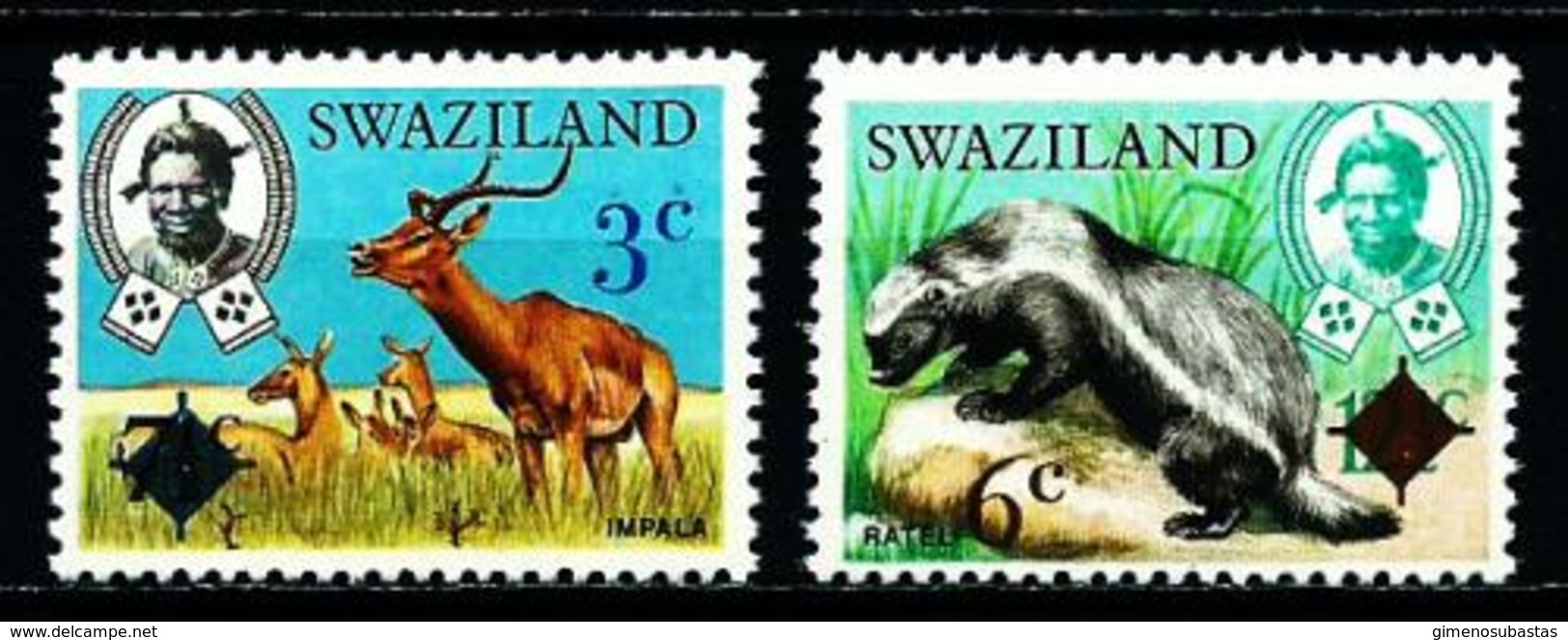 Swaziland Nº 248/9 (sobrecarga) Nuevo - Swaziland (1968-...)