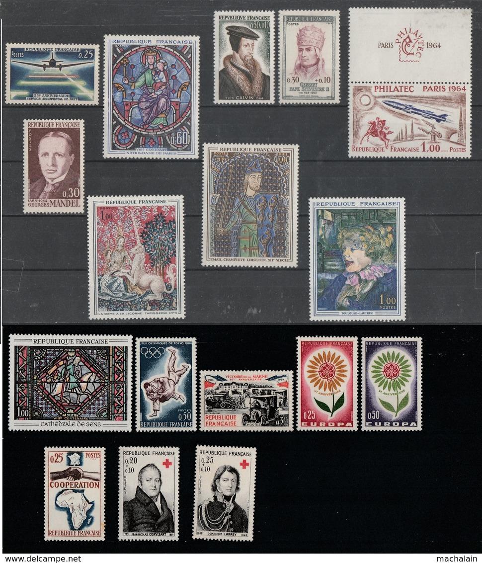 FRANCE Années Complètes 1960 à 1970 Neufs** Luxe - Côte = 469€ - 29 Scans - 1960-1969