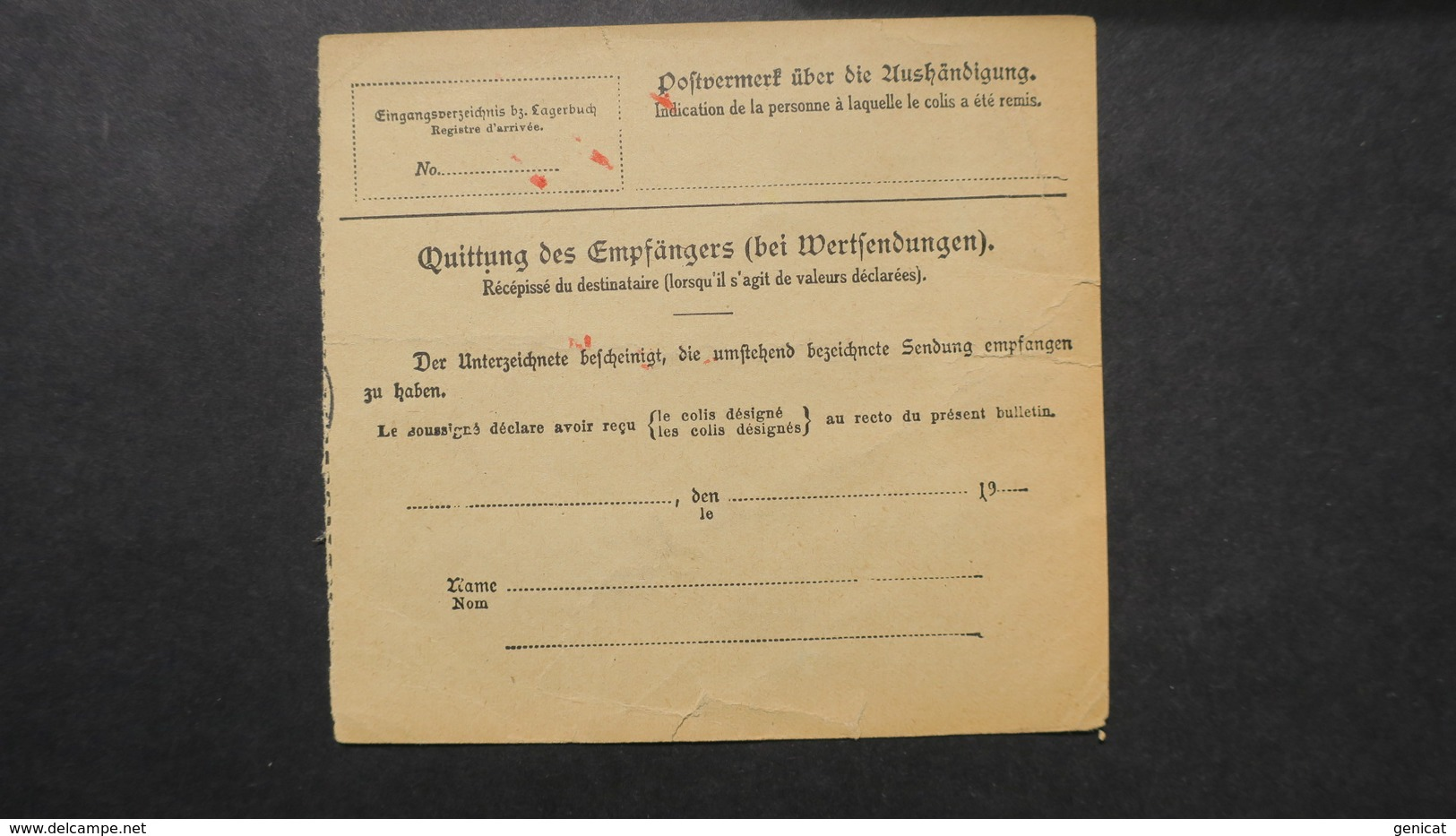 Deutsche Reich , Michel N° 82 Paketkarte Von Rathenow Nach Basel Schweiz 1919 - Germany