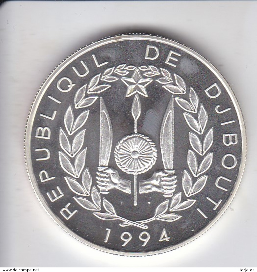 MONEDA DE PLATA DE DJIBOUTI DE 100 FRANCS DEL AÑO 1994 OLYMPIC GAMES 1996 (SILVER-ARGENT) - Djibouti