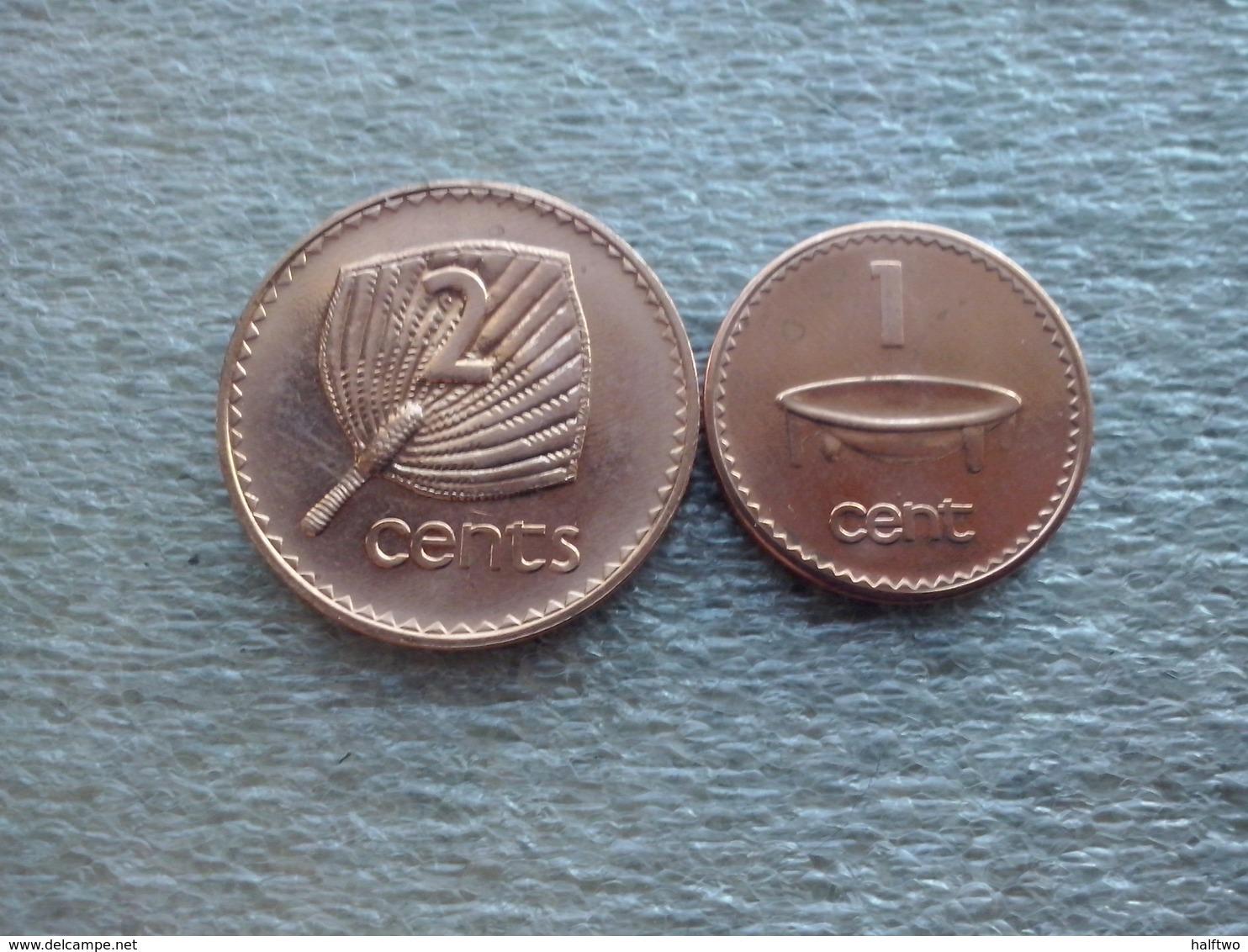 Fiji  1 And 2 Cents   2001   UNC - Figi