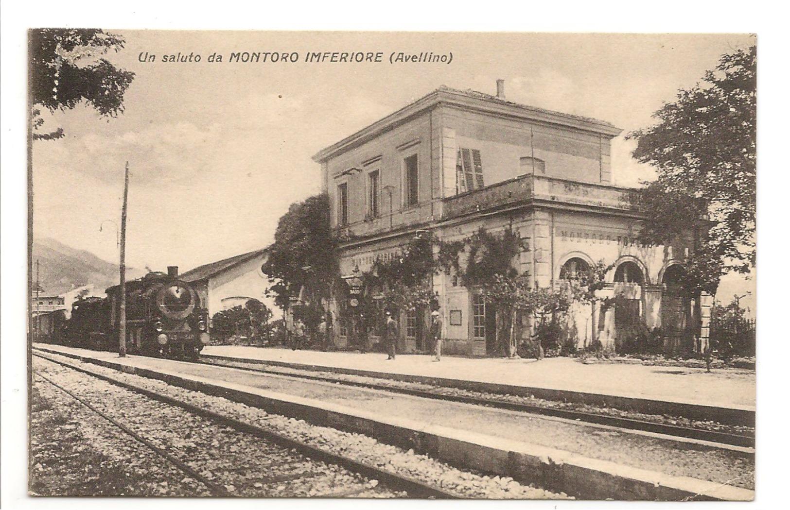 UN SALUTO DA MONTORO INFERIORE - STAZIONE - Avellino