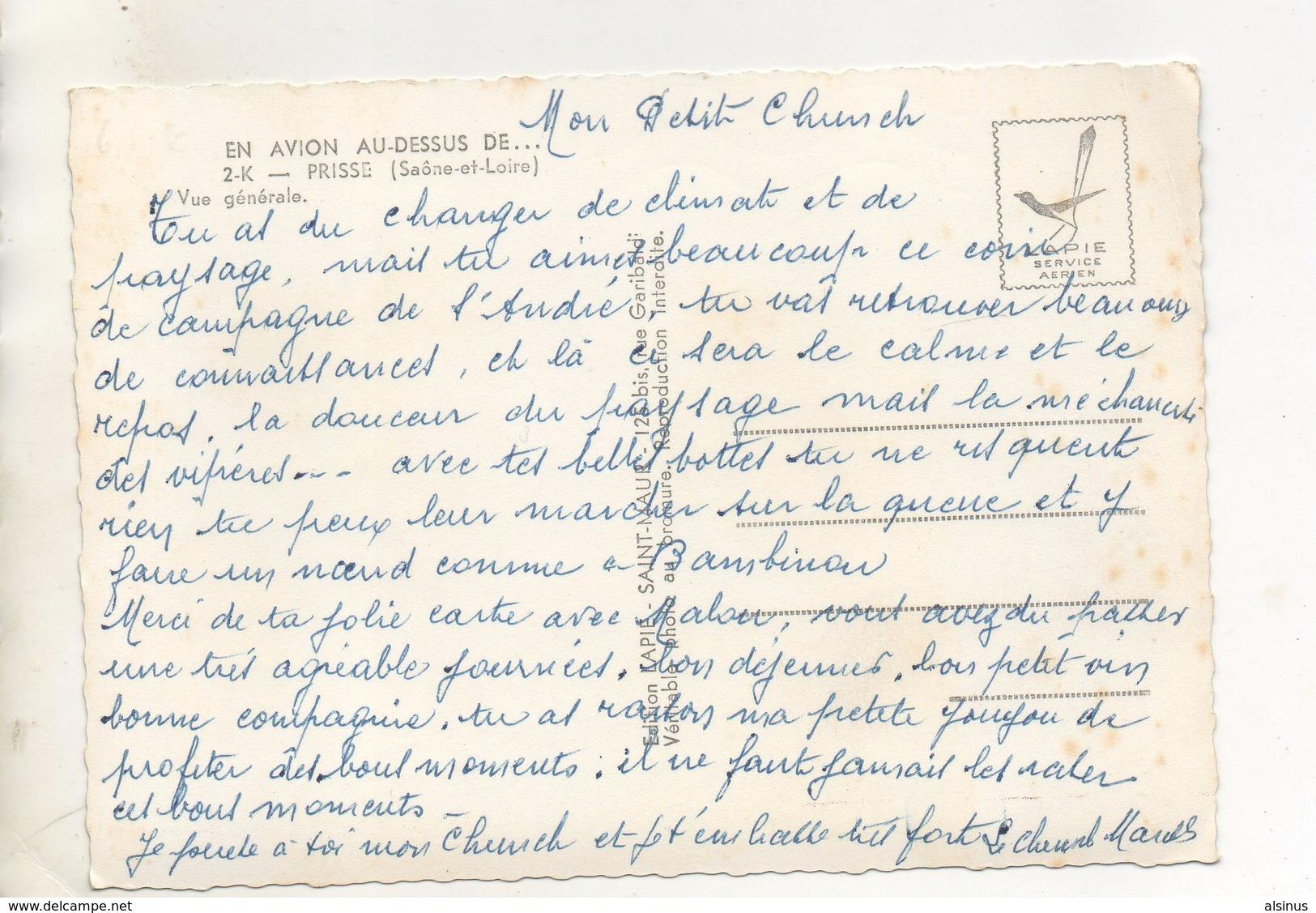 71 - PRISSE - EN AVION AU DESSUS DE - VUE GENERALE - France