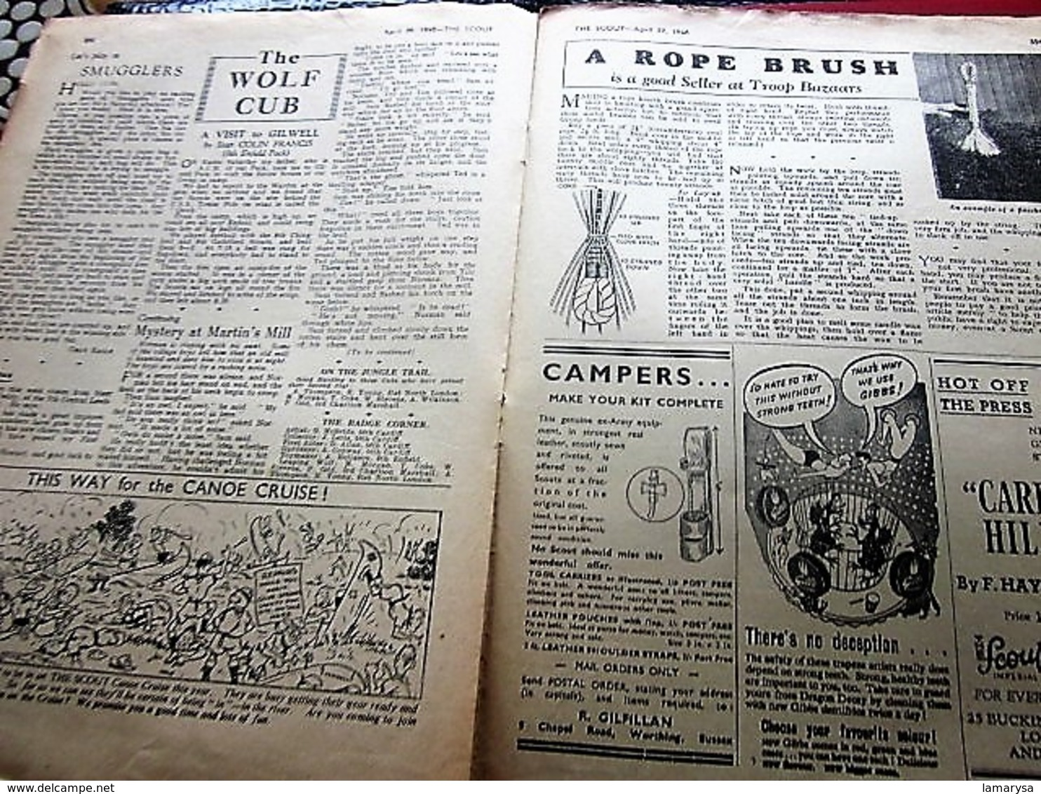 04/1948--THE SCOUT FOUNDED LORD BADEN-POWELL-OFFICIAL-ORGAN-BOY-SCOUT-SCOUTING-SCOUTISME-JAMBOREE-SCRAPBOOK-ADVERTISSING - Scouting