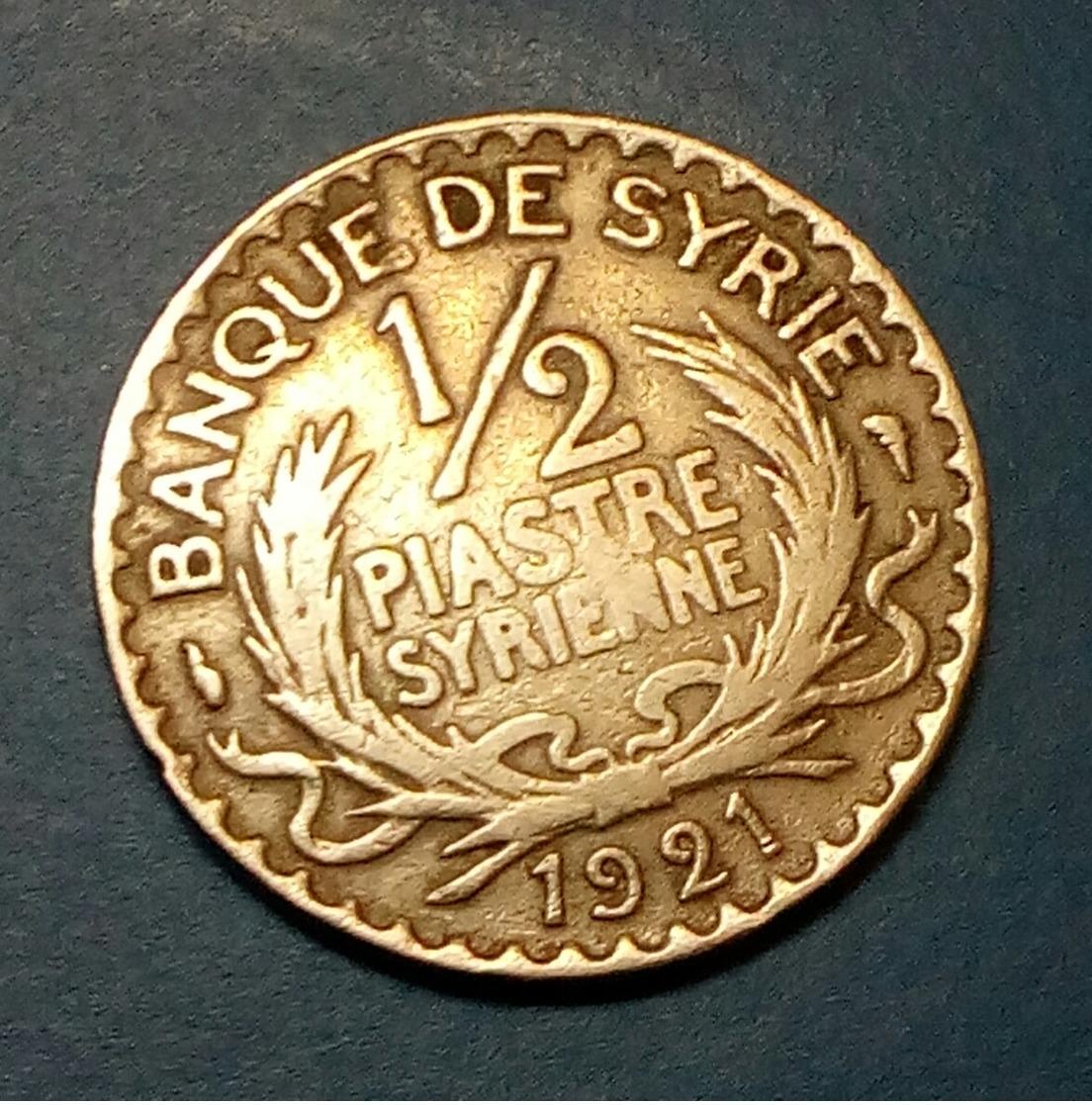 SYRIA - 1/2 PIASTRE - 1921- KM 68 - Agouz - Syria