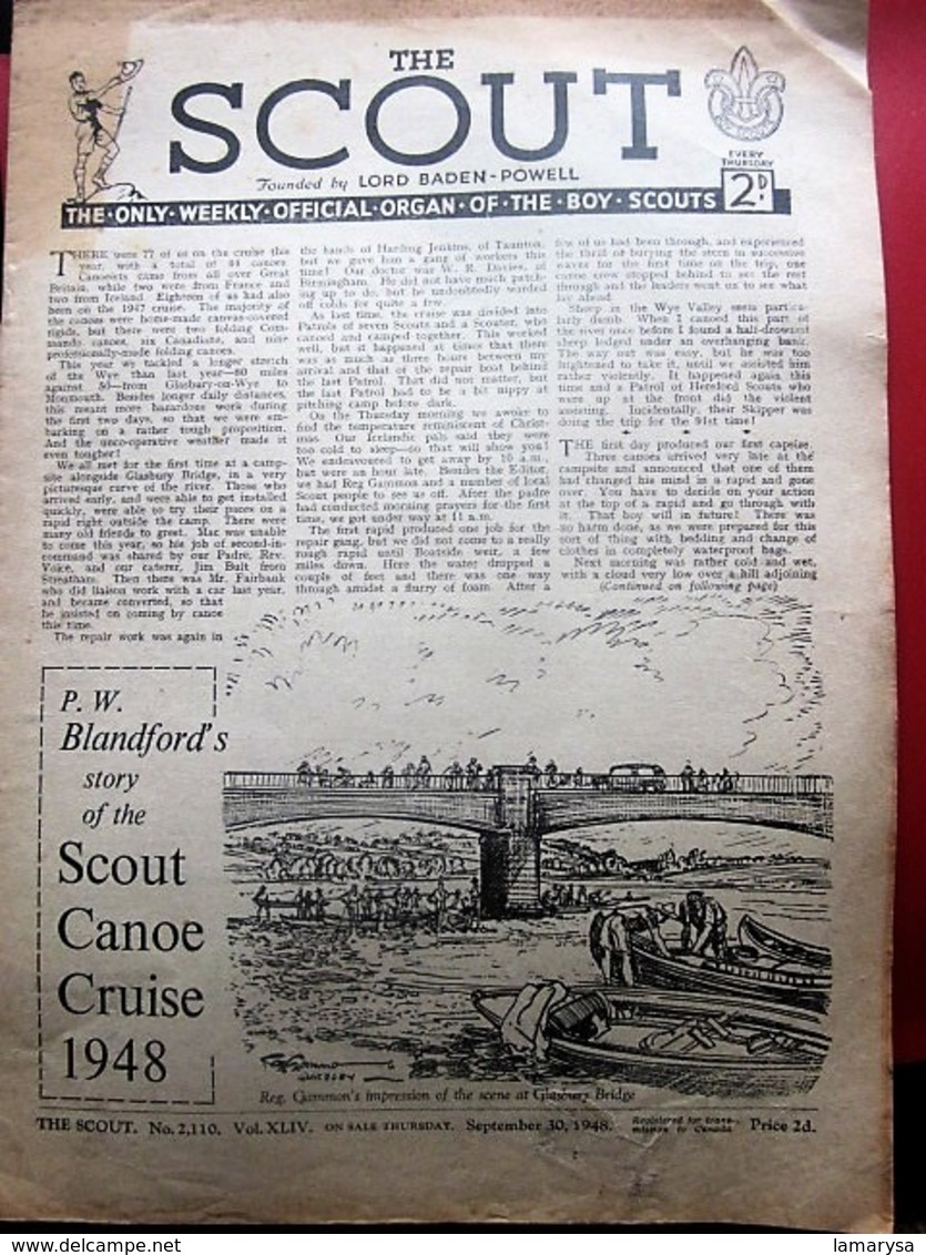 07/1948--THE SCOUT FOUNDED LORD BADEN-POWELL-OFFICIAL-ORGAN-BOY-SCOUT-SCOUTING-SCOUTISME-JAMBOREE-SCRAPBOOK-ADVERTISSING - Scouting