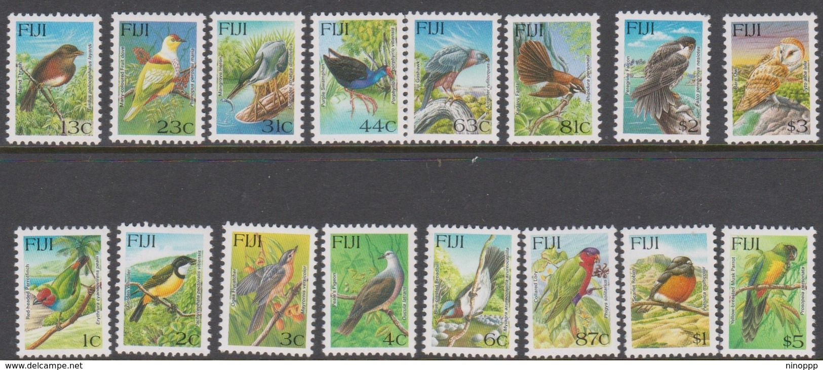 Fiji SG 912-925 1995 Birds, Mint Never Hinged - Fiji (1970-...)