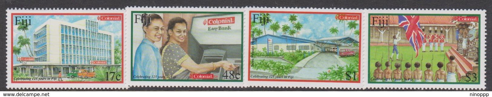 Fiji SG 1145-1148 2001 125th Anniversary Colonial Bank, Mint Never Hinged - Fiji (1970-...)
