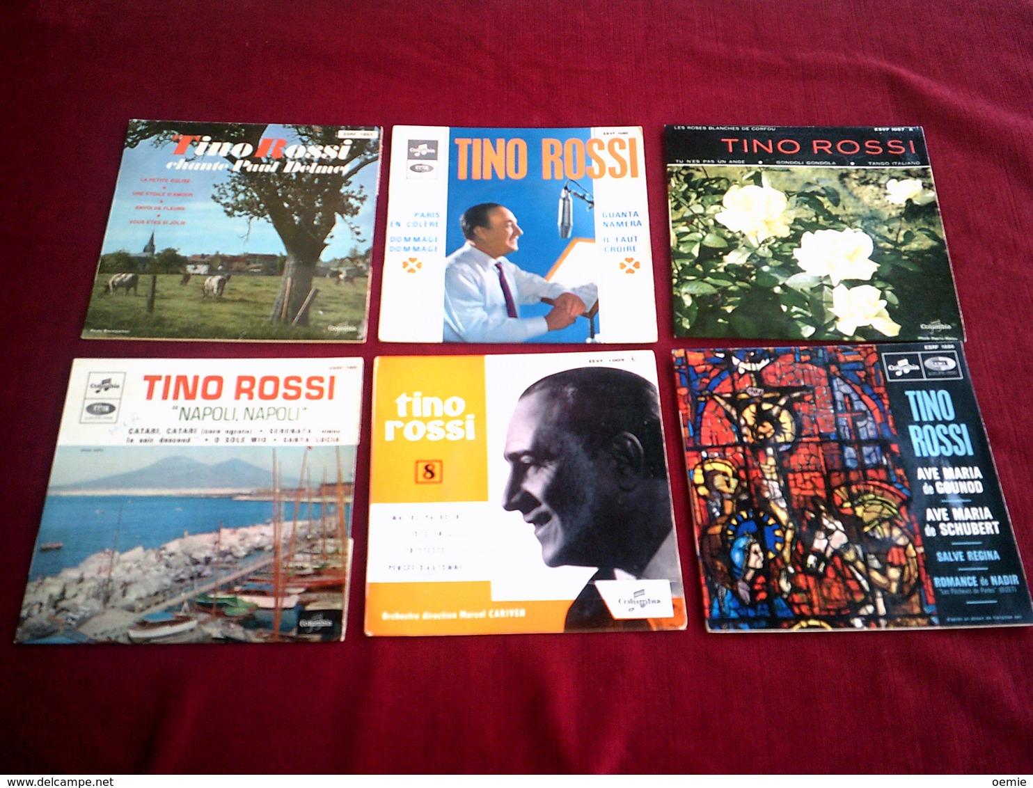 COLLECTION   DE 14 / 45  TOURS  DIFFERENTS DE TINO  ROSSI - Vollständige Sammlungen