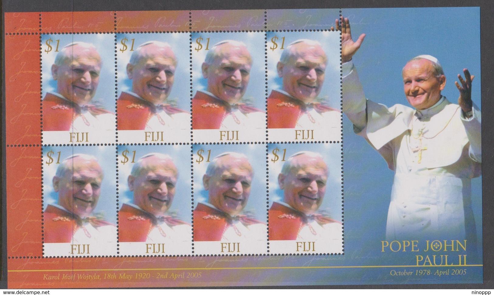 Fiji SG 1286 2005 Pope John Paul II Sheetlet,mint Never Hinged - Fiji (1970-...)