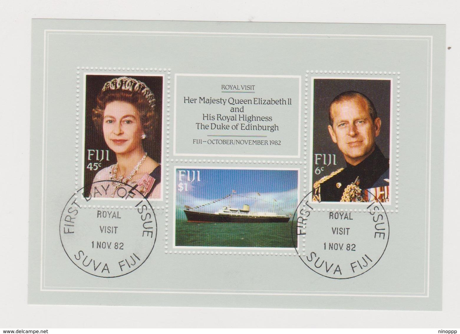 Fiji SG MS 646 1982 Royal Visit ,Miniature Sheet,used - Fiji (1970-...)