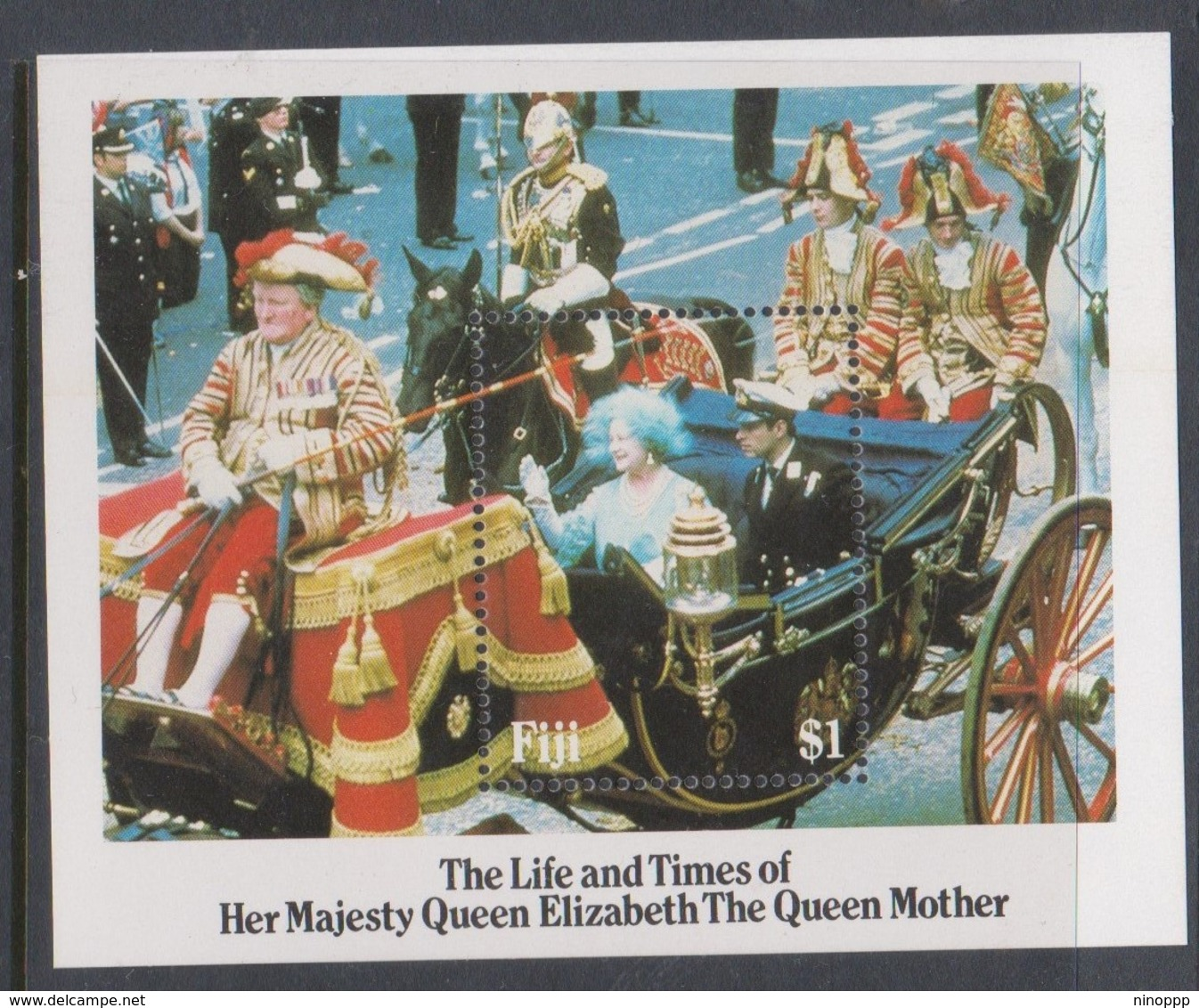 Fiji SG MS 705 1985 The Life And Times Of Queen Mother,Miniature Sheet,mint Never Hinged - Fiji (1970-...)