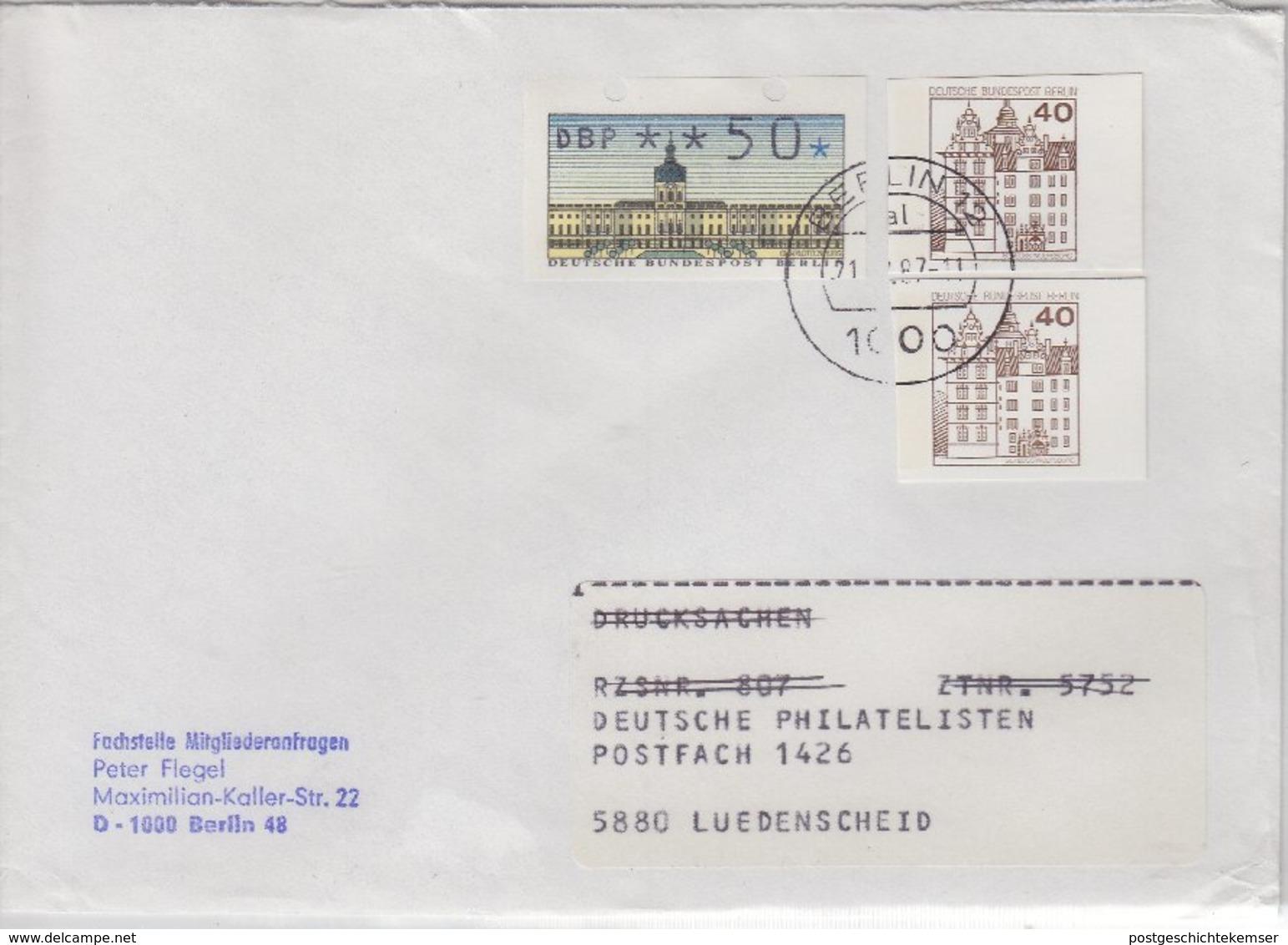 Berlin - 2x40 Pfg. B&S GA-Ausschnitte U.a., Brief Berlin - Lüdenscheid 1987 - [5] Berlino