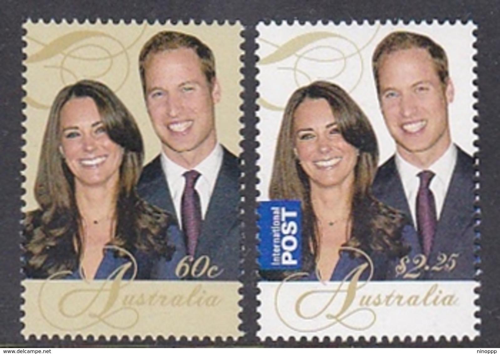 Australia ASC 2888-2889 2011 Royal Wedding Part I, Set MNH - 2010-... Elizabeth II