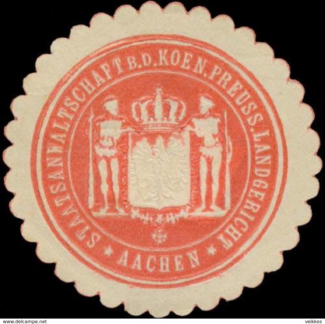 Aachen: Staatsanwaltschaft B.d. K.Pr. Landgericht Aachen Siegelmarke - Cinderellas