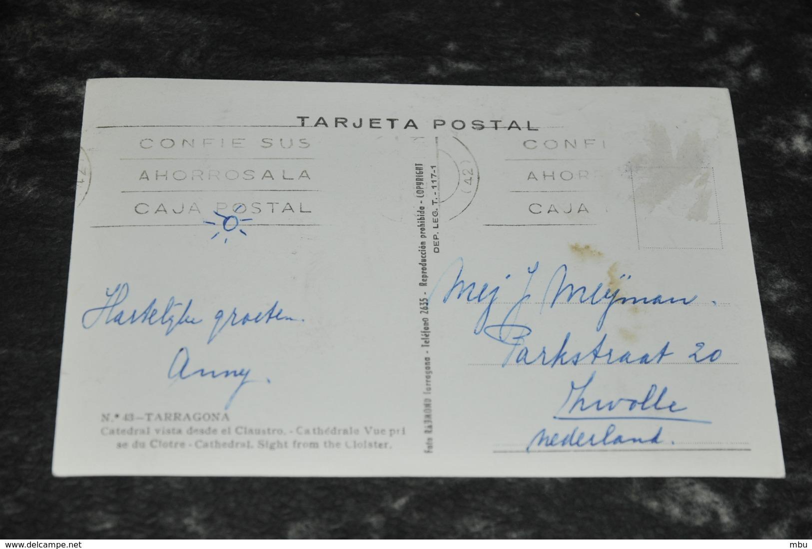 5680  TARRAGONA,  CATEDRAL VISTA DESDE EL CLAUSTRO - Tarragona
