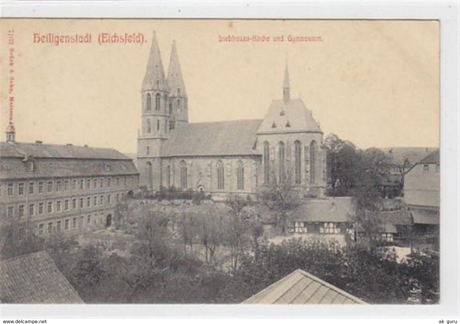 39060597 - Heiligenstadt (Eichsfeld). Liebfrauen-Kirche Gymnasium Gelaufen. Leicht Stockfleckig, Sonst Gut Erhalten - Germany