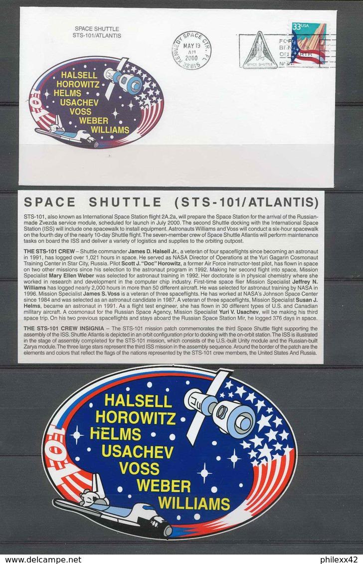 3021 Espace Space Lettre (cover Briefe) USA Start Sts-101 Atlantis 19/5/2000 + Stickers (autocollant) - Stati Uniti