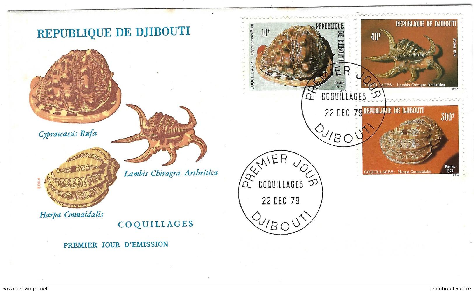 FDC, République De Djibouti, 1979, Coquillages - Djibouti (1977-...)