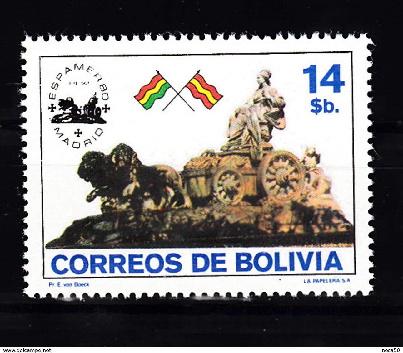 Bolivia 1980 Mi Nr  966, MHN   Leeuwen, Lion, Vlaggen, Flag - Bolivië